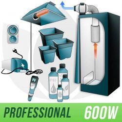 KIT COLTIVAZIONE 600W PER PIANTE AUTOFIORENTI INDOOR TERRA + GROW BOX PRO