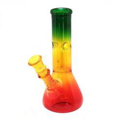 Bong in vetro Colori Rasta 21cm