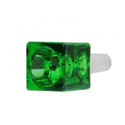 Braciere per Bong in vetro verde cubo 14mm